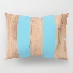 Wood Grain Stripes - Light Blue Pillow Sham by Natural Collective Co. Geometric Decor, Wood Texture, Pillow Shams, Wood Grain, Plank, Hardwood, Grains, Triangle, Light Blue