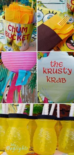 boy birthday parties These SpongeBob SquarePants birthday party ideas will make your house more happening than Bikini Bottom Everyone knows who lives in a pineapple under the sea. Spongebob Birthday Party, 6th Birthday Parties, Third Birthday, Birthday Party Decorations, Spongebob Party Ideas, Birthday Ideas, Birthday Bash, Spongebob Squarepants, Spongebob Spongebob