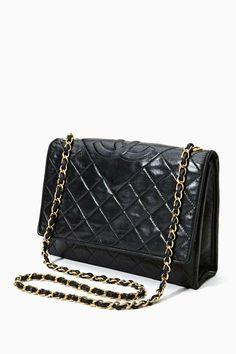 Vintage Chanel Quilted Tassel Leather Handbag