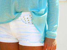 Turquoise + white.