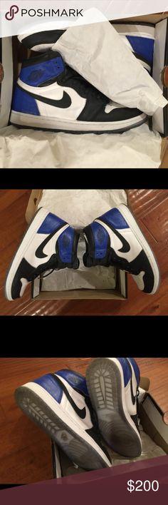 Jordan 1 Laser fragment custom 11.5 Jordan 1 Laser 100% authentic custom painted with fragment 1 color blocking.  Comes with original box, no recipe. Size 11.5 Jordan Shoes Sneakers