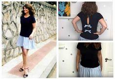 DIY Cómo hacer un vestido fácil con una camiseta