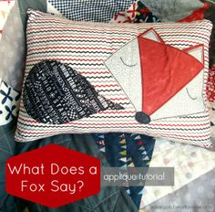 What Does a Fox Say? Free Applique Template