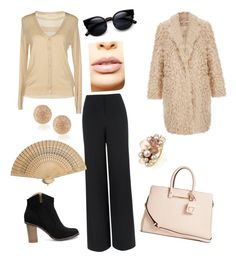 """""""golden"""" by lindajcox-1 on Polyvore featuring Jaeger, Giorgia & Johns, Valentino, GUESS, LASplash, Carolina Bucci, Elizabeth and James, Mimí, women's clothing and women's fashion"""