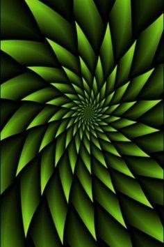 fractal Download free HD Green 3D iPhone Wallpaper.
