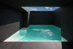 Lake Como house by Marco Castelletti  upper level pool enclosed with full height walls for privacy form neighbors