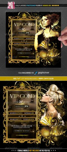 Vip Gold Poster/Flyer - Clubs & Parties Events