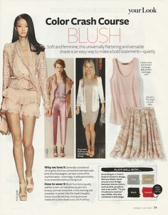 Color Crash Course: Blush #instyle
