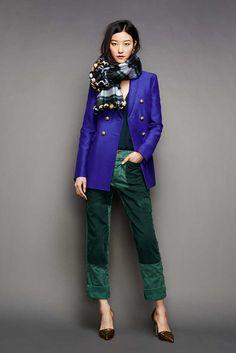 Combinaciones de colores: púrpura + verde esmeralda