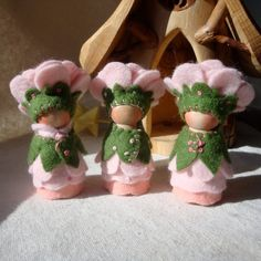 Tea Rose Flower Cap Gnome ©2012  by Painting Pixie Studio