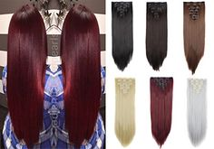 DODOING 23 Long Straight Double Weft Thick Full Head Clip in Hair Extensions Women Lady Hairpiece * Find out more about the great product at the image link. (This is an affiliate link) Feather Extensions, Clip In Hair Extensions, Permed Hairstyles, Straight Hairstyles, Hair Nets, Silky Hair, Hair Health, Hair Pieces, Hair Lengths
