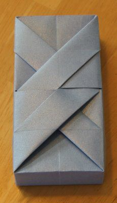 Creative creasing for a rectangular paper box: I might have to practice to get this perfect.