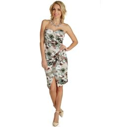 Ivory Floral Ashes Wrap Dress