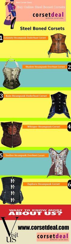 Buy Online Steel Boned Corsets