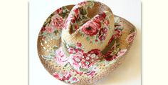 Your Favorite Hat Style Will Work with This Method! Dig out leftover floral fabric scraps and decorate your favorite straw hat. We love the cowgirl hat used in the tutorial but can imagine just about any summer hat with fabric decor. In fact, this will be a great way to spruce up my favorite (but …