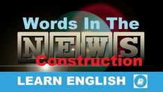 Angol Szókincs - Construction | E-Angol.eu Learn English Words, English Lessons, Learning English, Short Words, New Words, Word Chaos, Word Alternative, Vocabulary Builder, Improve Your English