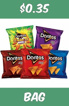 Doritos Chips 40-Count Variety Pack Only $0.35/Bag Shipped!
