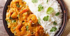 Recette de Colombo de crevettes au lait de coco pour régime sans sel. Facile et rapide à réaliser, goûteuse et diététique.
