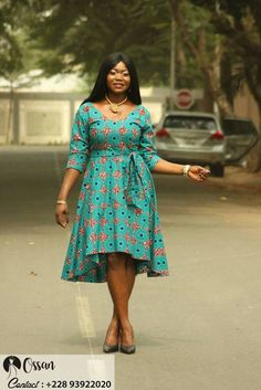 Latest African Fashion Dresses, African Dresses For Women, African Print Fashion, African Attire, Ankara Short Gown Styles, Short Gowns, African Traditional Dresses, Casual Dresses, Salama