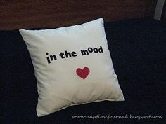 """What a funny pillow!  One side says """"In the Mood"""" and the oher""""Zzzzzzz""""  I think any husband would LOVE this as a Valentines gift!"""