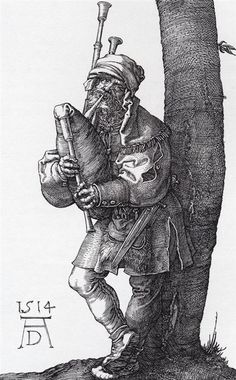 Albrecht Durer - The Bagpiper, 1514.