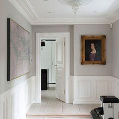 Farrow & Ball Cornforth white + Wimborne white panelling For my hall way Tudor House, Style At Home, Maison Tudor, Casas Tudor, My Living Room, Living Spaces, Wimborne White, Cornforth White Bedroom, Cornforth White Kitchen