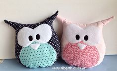 Doudou hibou Couture Sewing, Baby Pillows, Animal Pillows, Diy Costumes, Baby Sewing, Handmade Toys, Softies, Diy For Kids, Diy Clothes