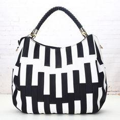 dames tas nieuwe mode 2015 zwart-wit image