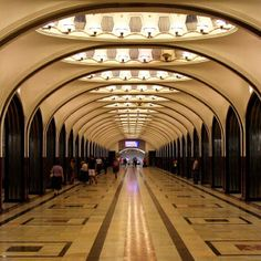 The metro station in #Moscow #Russia, rarely seen empty. Photo courtesy of bumbyfoto on Instagram.