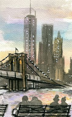 Prints! Oh so many new prints available! Brooklyn Bridge at Sunset, New York city, art print