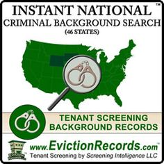 The national criminal record search and nationwide criminal background records include corrections data, felony, misdemeanor offenses, and some traffic. Tenant Screening, Criminal Background Check, Background Search, Records Search, Court Records, Criminal Record