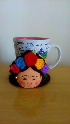 Felt Diy, Felt Crafts, Diy And Crafts, Mexican Birthday Parties, Felt Coasters, Tea Coaster, Felt Templates, Mexican Crafts, Felt Decorations