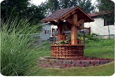 Landscape Wishing Well Woodworking Plans