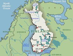Map of Finland  so I can remember where I have been.