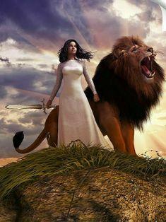 Daughters Of The King, Daughter Of God, Christian Warrior, Christian Artwork, Bride Of Christ, Lion Pictures, Prophetic Art, Biblical Art, Jesus Art