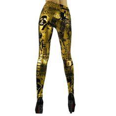 Intimates21 -New Rock Girl Chic Newspaper Gold Print Tights Leggings Pants Xs to M Intimates21, http://www.amazon.com/dp/B00AA6YJQ0/ref=cm_sw_r_pi_dp_ZvIarb08FZY71