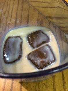 Café Ole! Baileys Irish Cream, Jack Daniels Tennessee Fire, and coffee ice cubes. Yum!