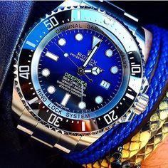 @YouCanNeverHaveEnough's Rolex Deep Blue DSSD by dailywristwatch