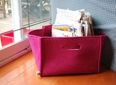 Are You Feeling it? Felt Storage Boxes and Baskets