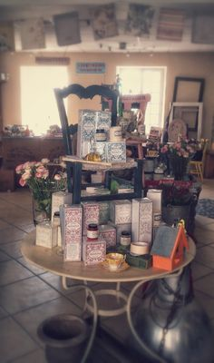 Fragrance Collection by Annie Sloan in Les Couronnes Sauvages . Claire Chalkley is a florist too so combines flowers, fragrances and furniture in her shop in Dol de Bretagne in Brittany, Northern France.