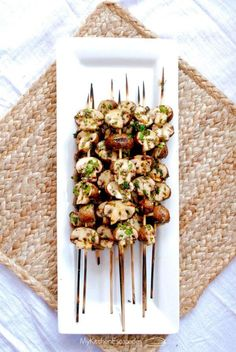 Grilled mushroom skewers are one of my favorite side dish recipes in the summer. Anything I can quickly throw on the grill will make those lazy summer. Bean Recipes, Side Dish Recipes, Ramen Recipes, Noodle Recipes, Potato Recipes, Carrot Recipes, Pasta Recipes, Salad Recipes, Salad