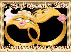 Ślubne gify i obrazki oraz życzenia: Animowane karty z życzeniami z okazji rocznicy ślubu