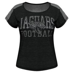 Jacksonville Jaguars Majestic Women's Play For Me T-Shirt – Black - $24.69