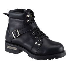 The most technologically advanced AdTec shoes emphasize durability, long-term wear ability, protection and are environmentally friendly. Full-grain leather uppers, a plain soft toe, and side zipper complement these motorcycle boots.