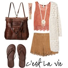 summerday4 by anpameta-1 on Polyvore featuring polyvore, Mode, style, MANGO, Zara, Abercrombie & Fitch, Frye, Aéropostale, Forever 21, Summer, Leather, city and crochet