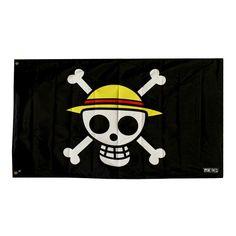 "Bandera Pirata ""One Piece"" (70 x 120 cm) #onepiece #luffi #anime"