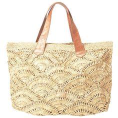 Mar Y Sol Tulum Tote (€115) ❤ liked on Polyvore featuring bags, handbags, tote bags, purses, totes, bolsas, natural, raffia tote, hand bags and tan tote bag
