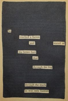 Through The Fog | Black Out Poetry | C.B. Wentworth