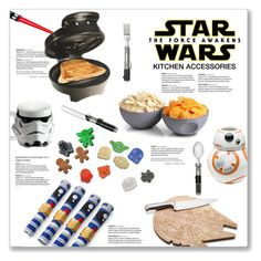 """""""Star Wars: The Force Awakens Kitchen Accessories"""" by kellylynne68 ❤ liked on Polyvore featuring interior, interiors, interior design, home, home decor, interior decorating, Vandor, ZAK, ThinkGeek and kitchen"""