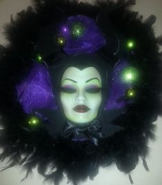 ORIGINAL ARTIST - Do not be fooled by Copies! -  Angelina inspired Maleficent and Wreath by PiratesQuarters, $135.00